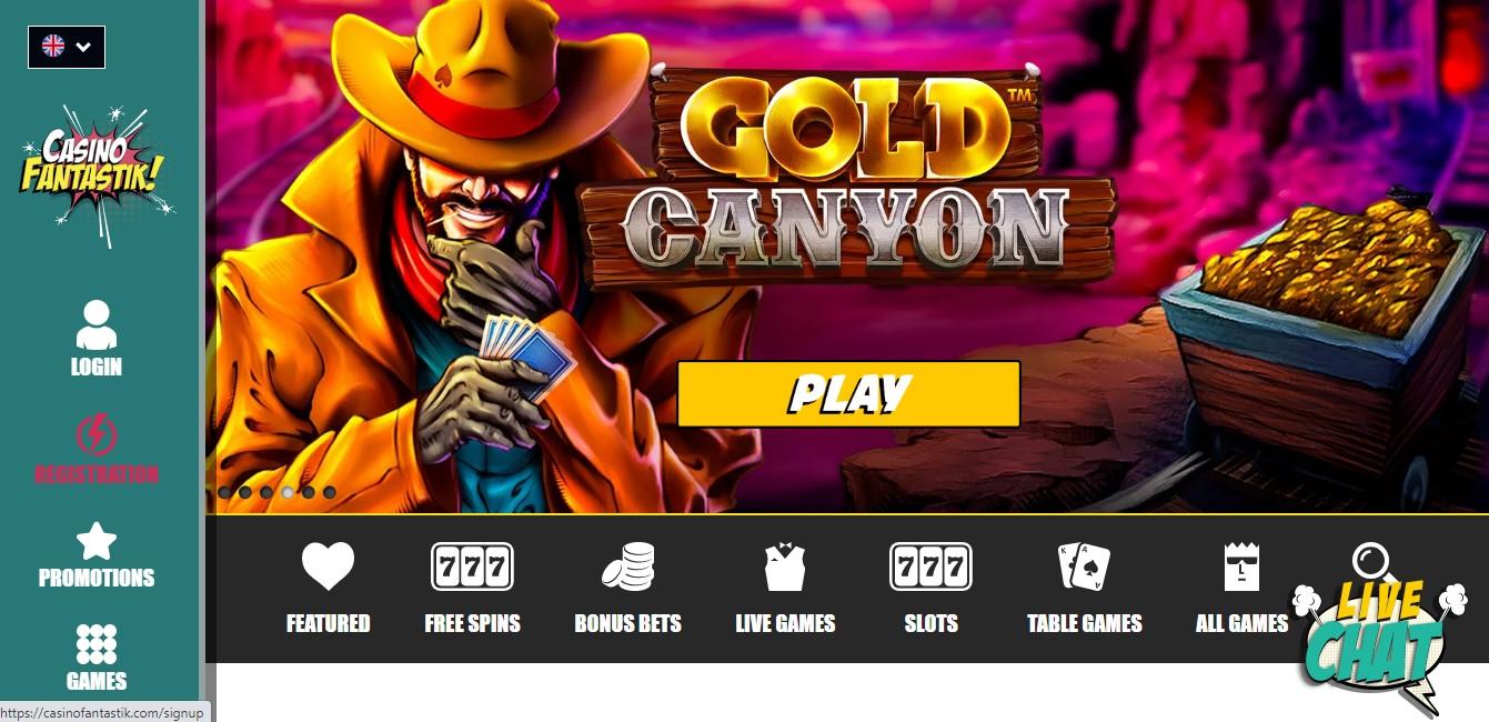 interface casino fantastik